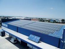 Φωτοβολταϊκό σύστημα στις εγκαταστάσεις της Bosch στη Θεσσαλονίκη ισχύος 77 kWP
