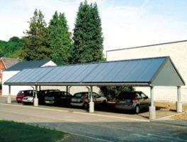 Γκαράζ-στέγαστρο χώρου στάθμευσης αυτοκινήτου και ενεργειακός κόμβος με ηλιακό σύστημα TiSUN