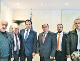 Συναντήσεις αντιπροσωπείας της ΕΒΗΕ  με τον Διοικητή της Τράπεζας της Ελλάδος και τον υπ. Ανάπτυξης, Άδωνι Γεωργιάδη