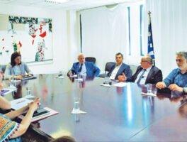 Συνάντηση αντιπροσωπείας της ΓΣΕΒΕΕ με την Υπουργό Παιδείας, Ν. Κεραμέως
