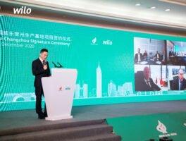 Wilo: Τελετή υπογραφής για νέο εργοστάσιο υψηλής τεχνολογίας στην πόλη Changzhou, στην Κίνα