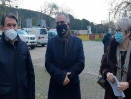 Ο Πρόεδρος του Συνδέσμου Τρικάλων Ν. Βαλομάνδρας στην έναυση του φυσικού αερίου στην Πύλη